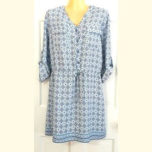 NEW Max Studio Shirt Dress, M: Drawstring, Tunic